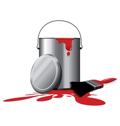 red paint vector image
