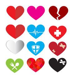 Set of heart symbol vector