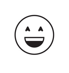 smiling cartoon face positive people emotion icon vector image vector image