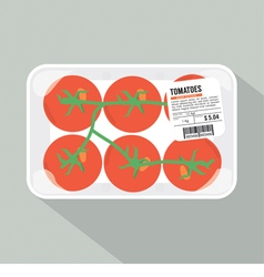Tomatoes pack vector