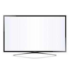 tv flat screen lcd plasma vector image vector image