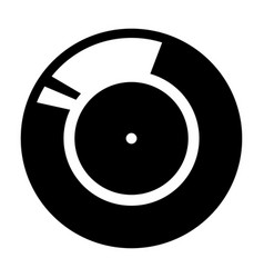 vinyl record retro sound carrier black color icon vector image vector image