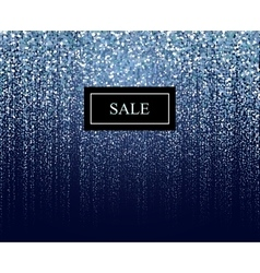 winter particle sale background vector image vector image