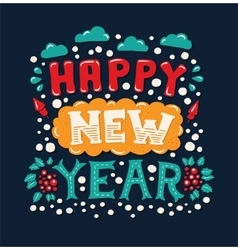 Happy New Year Vintage Poster vector image