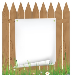 Announcement on the fence vector