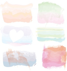 Set of watercolor banners frames splashes vector