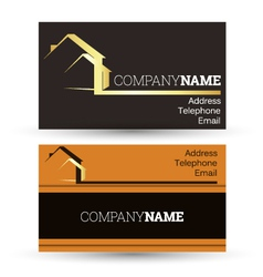 Business card housing vector