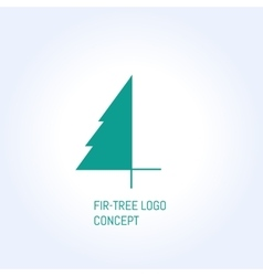 Fir-tree logo vector