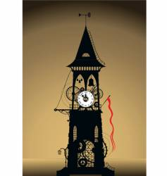 Grunge watch tower vector