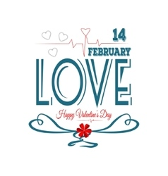 Happy valentines day fourteen february vector