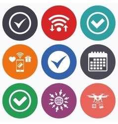 Check signs checkbox confirm icons vector