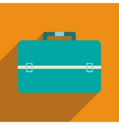 Flat icon with long shadow business bag vector