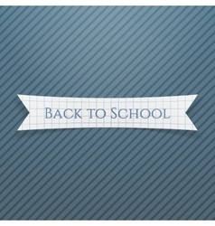 Back to school text on realistic badge vector