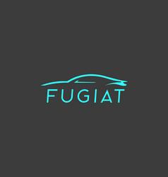 abstract car logotype auto icon symbol vector image vector image
