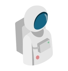 Astronaut isometric 3d icon vector image vector image