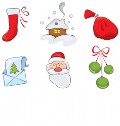 christmas drawings vector image vector image