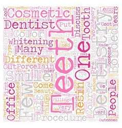 Cosmetic dentistry a closer look text background vector