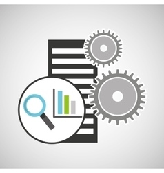 database setting statistical optimized icon vector image