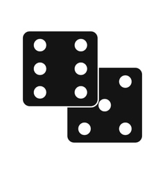 Dice black simple icon vector image vector image