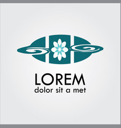 flower decoration logo vector image