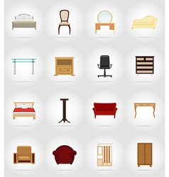 furniture flat icons 37 vector image vector image