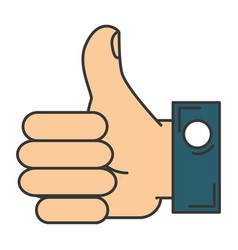 hand like isolated icon vector image