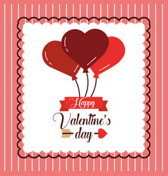 happy valentines day greeting invitation card vector image vector image
