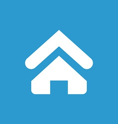 Home icon white on the blue background vector