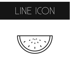 Isolated watermelon outline melon slice vector