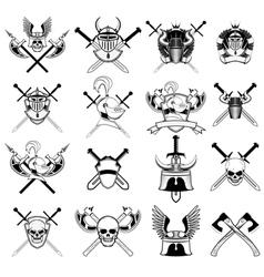 Knight logo set vector
