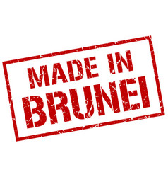 Made in brunei stamp vector