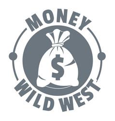 money wild west logo vintage style vector image