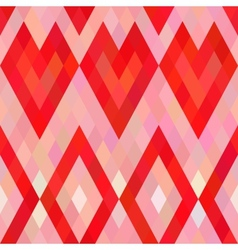 Mosaic heart seamless pattern vector image
