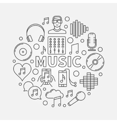 Music line round vector image vector image
