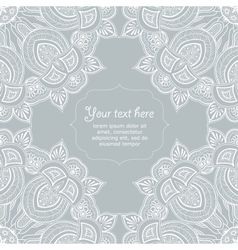 Ornamental corner lace frame vector