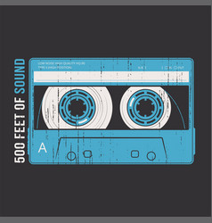 Retro design with a cassette tape vector