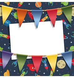rockets and party bunting vector image vector image