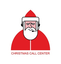Santa Claus call Center Santa responds to phone vector image vector image