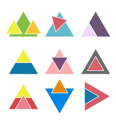 Set of geometric logotypes design elements vector