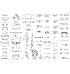 Set of vintage retro calligraphic elements vector