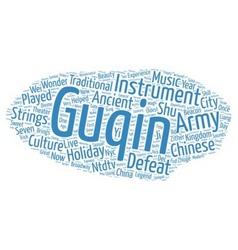 The guqin a chinese musical instrument that helped vector