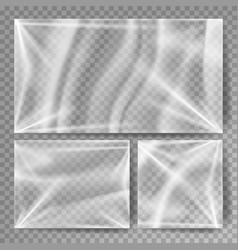 Transparent polyethylene stretched glossy vector