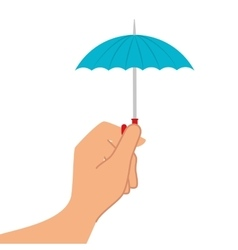 Umbrella accessory weather hand vector