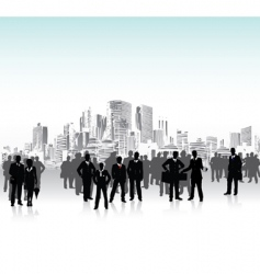 urban crowd vector image vector image