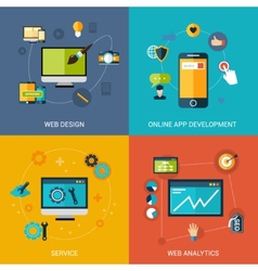 Web development set vector