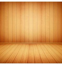 wood floor and wall vector image
