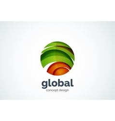 Sphere logo template global or world concept vector