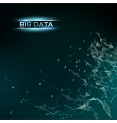 Computer technology and big data vector