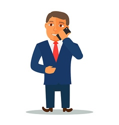 Businessman cartoon character in blue suit vector