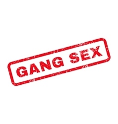 Gang sex text rubber stamp vector